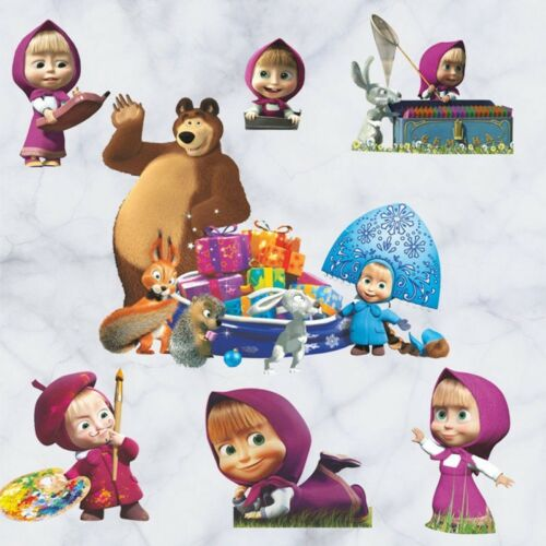 Masha /& The Bear Cartoon Wall Stickers Refrigerator Decal Kid Bedroom Decoration