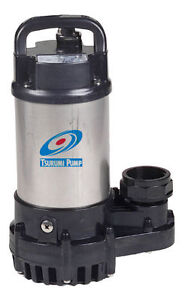 Tsurumi 2om 1 5 hp submersible pond pump ebay for Best rated pond pumps