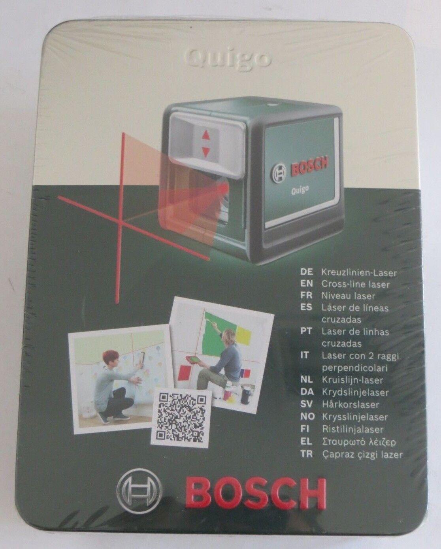 BOSCH Quigo Kreuzlinien-Laser im Geschenk Case Metall Dose inkl. Halterung MM2