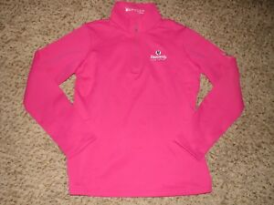 NEW NO TAGS WMNS SPYDER HEAVENLY LAKE TAHOE PINK 1/4 ZIP Pullover SZ L