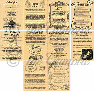 Details about Spirit Spells for Book of Shadows, Spirit Summoning, Wicca,  Witchcraft, Pagan,
