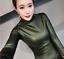 Womens-Vogue-Slim-Warm-PU-Leather-Tops-Casual-Turtleneck-Blouse-Plus-Shirt-New thumbnail 7