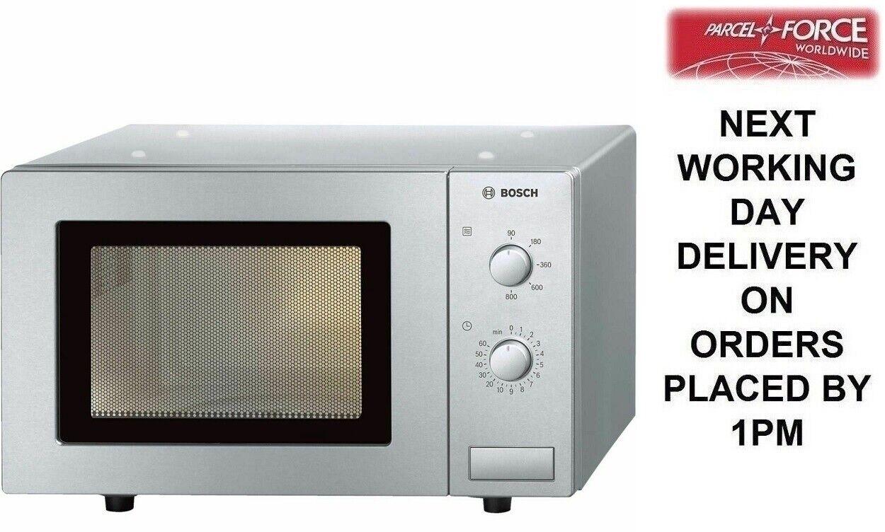 Bosch HMT72M450B Brushed Steel 800 Watt Microwave - Brand nouveau - 2 Year Warranty