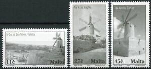 Malta Architecture Stamps 2003 MNH Windmills Tourism & Landscapes 3v Set