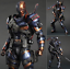 Deathstroke Action Figure Model The Arrow Villain Play Arts Gift New Collectible