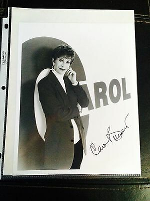 Frank Authentic Carol Burnett Signed Autograph Photo W/coa Free Shipping To Be Distributed All Over The World