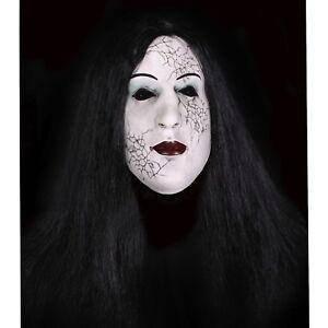 cheveux HORREUR femme mort latex bizarre vivant totem masque avec halloween WER0IHrqI