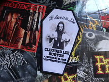 CLIFF BURTON 1962-1986 Aufnäher IN MEMORY Tribute Patch Metal Coffin Shape