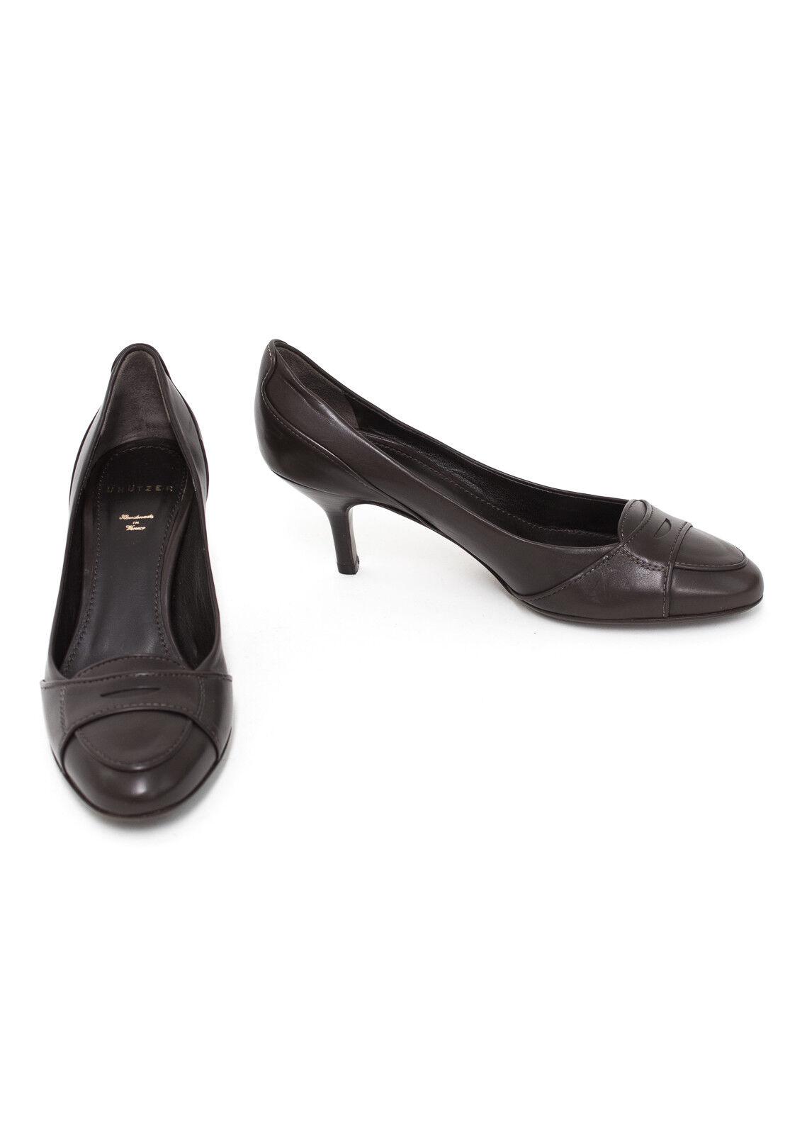 Schuhe Damen 36 DE Gr. Pumps High UNÜTZER NEU Leder Braun
