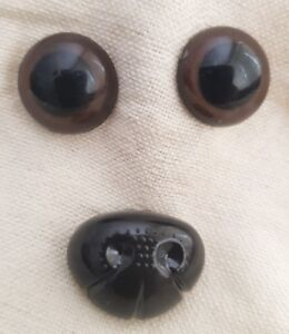 Large-Set-Brown-Safety-Eyes-amp-Nose-for-Teddy-Bear-Dog-Cat-Animal-Stuffed-Toys