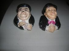 STAN LAUREL & OLIVER HARDY FACE POTS    LAST CHANCE TO BUY