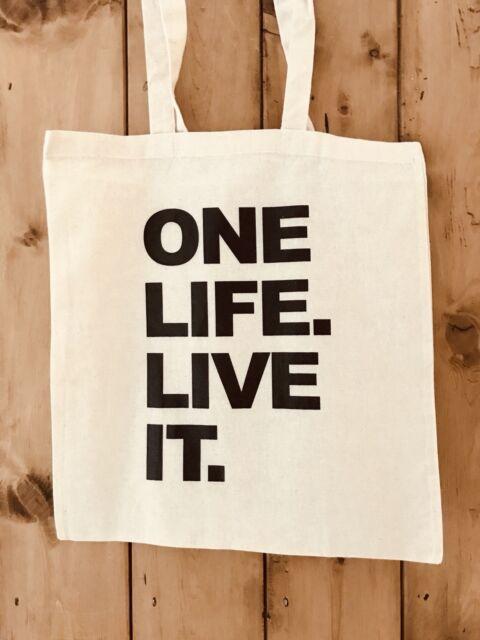 Land Rover Defender One Life Live It Canvas Tote Bag Shopper Bag For Life