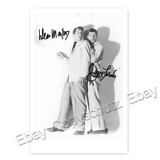 Dean Martin & Jerry Lewis - Hollywood Stars - Autogrammfotokarte laminiert (AK2)