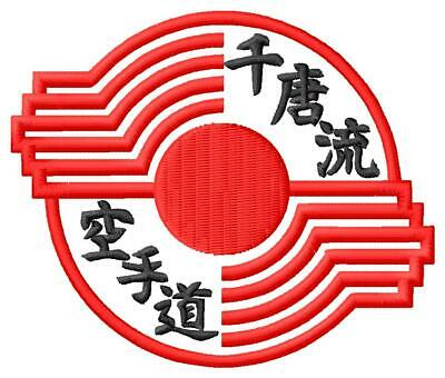 Karate Goju-Ryu Kenkon  IOGKF IRON ON PATCH Aufnäher Parche brodé patche toppa
