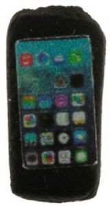 Dollhouse-Miniature-Cell-Phone-Smart-Phone-Black-1-12-Scale