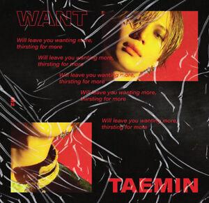 SHINEE-TAEMIN-WANT-2nd-Mini-Album-MORE-Ver-CD-PhotoBook-Card-Stand-GIFT-SEALED