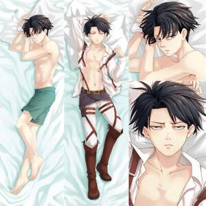 "Details about  /59/"" Japan Anime Attack on Titan Dakimakura hugging body Pillow case cover HA685"