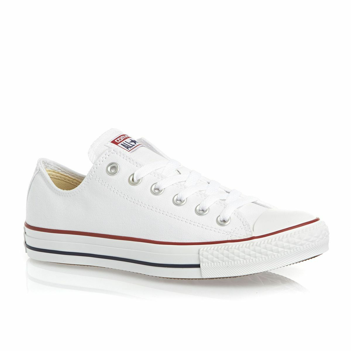 Converse All Star ox Canvas Mens Trainers shoes White Size 9.5 UK   43 EU