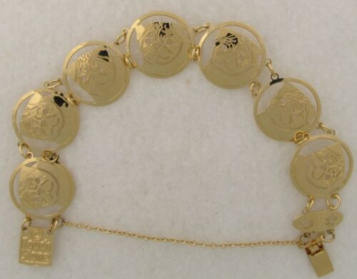 Pug Jewelry Gold Face Bracelet by Touchstone