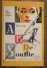 Carte format CPSM, A bout de souffle, Godard  Belmondo, Seberg