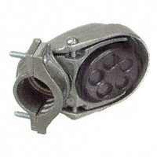 "NEW HALEX 58005 ALUMINUM 1//2/"" CLAMP ON STYLE ELECTRICAL SERVICE ENTRANCE CAP"