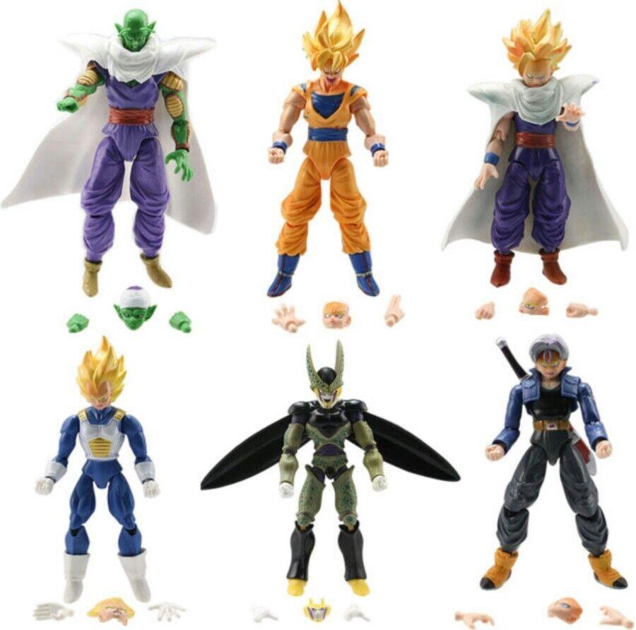 6 PERSONAGGI drake boll 16Cm.- Super Z Sayan Goku Figur modelllllerlerlino Statulino