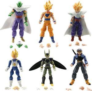 6 PERSONAGGI DRAGON BALL -16Cm.- Super Z Sayan Goku Figure Modellino Statuina