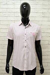 Camicia-ANTONY-MORATO-Uomo-Taglia-Size-L-Maglia-Shirt-Man-Manica-Corta-a-Righe