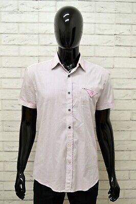 Camicia Antony Morato Uomo Taglia Size L Maglia Shirt Man Manica Corta A Righe Luminoso A Colori