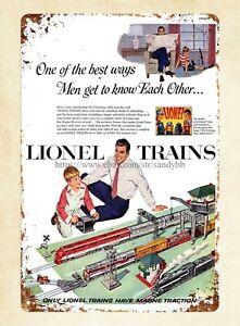 "Lionel Metal tin sign 12"" Round railroad model train home garage Wall decor new"
