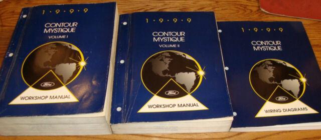 1999 Ford Contour Mercury Mystique Shop Service Manual Vol ...