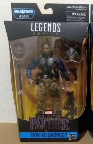 "Marvel Legends Black Panther Wave 2 Erik Killmonger militaire W Masque 6/"" Figure"