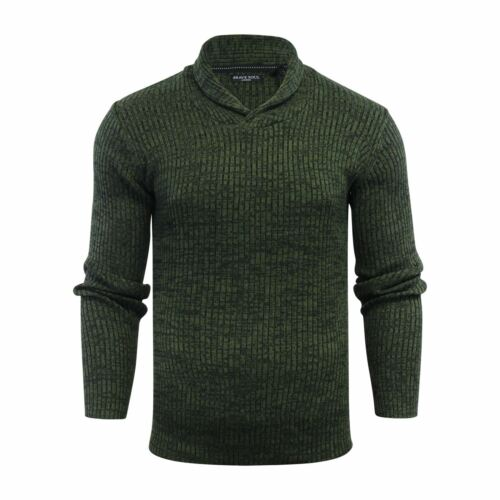 Brave Soul Republic Mens Jumper Ribbed Funnel Neck Knitted Sweater