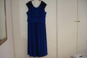 Shoulders Plus Beaded Blue Uk Royal Large Size Hope Maxi Joanna Dress 26 TWn1Ivw6