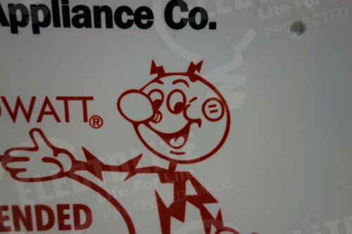 Reddy Kilowatt MARS RADIO /& APPLIANCE DIE CUT HEAVY-THICK SIGN ELECTRICIAN GIFT