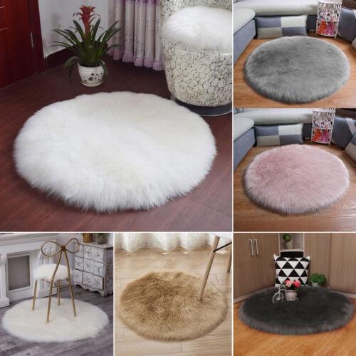 Soft Fluffy Wool FX Sheepskin Mat Sofa Bedroom Cushion Rugs Floor Carpet Blanket