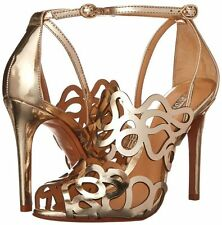 Schutz Women's Darleneh Dress Sandal, Platina/Gold SIZE 7 B (sh)