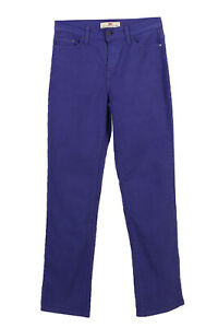 Vintage-Levi-039-s-512-Straight-Leg-Women-Jeans-High-Rise-UK-W28-L32-Purple-J3711