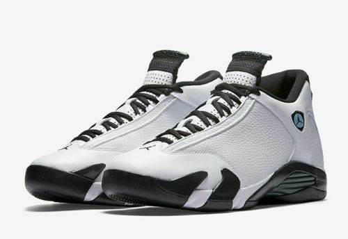 2016 Nike Air Jordan 14 XIV Retro GS Oxidized Size 6Y. black toe green