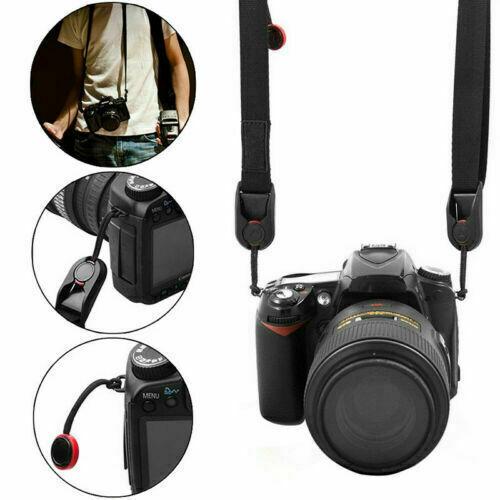 BLACK Quick Rapid Shoulder Sling Belt Neck Strap for Camera SLR/DSLR Nikon Canon