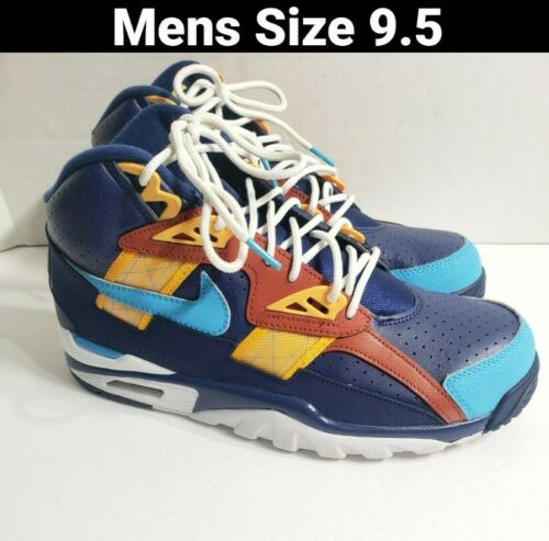 Nike Air Trainer SC High Navy Blue Yellow Size 9.5