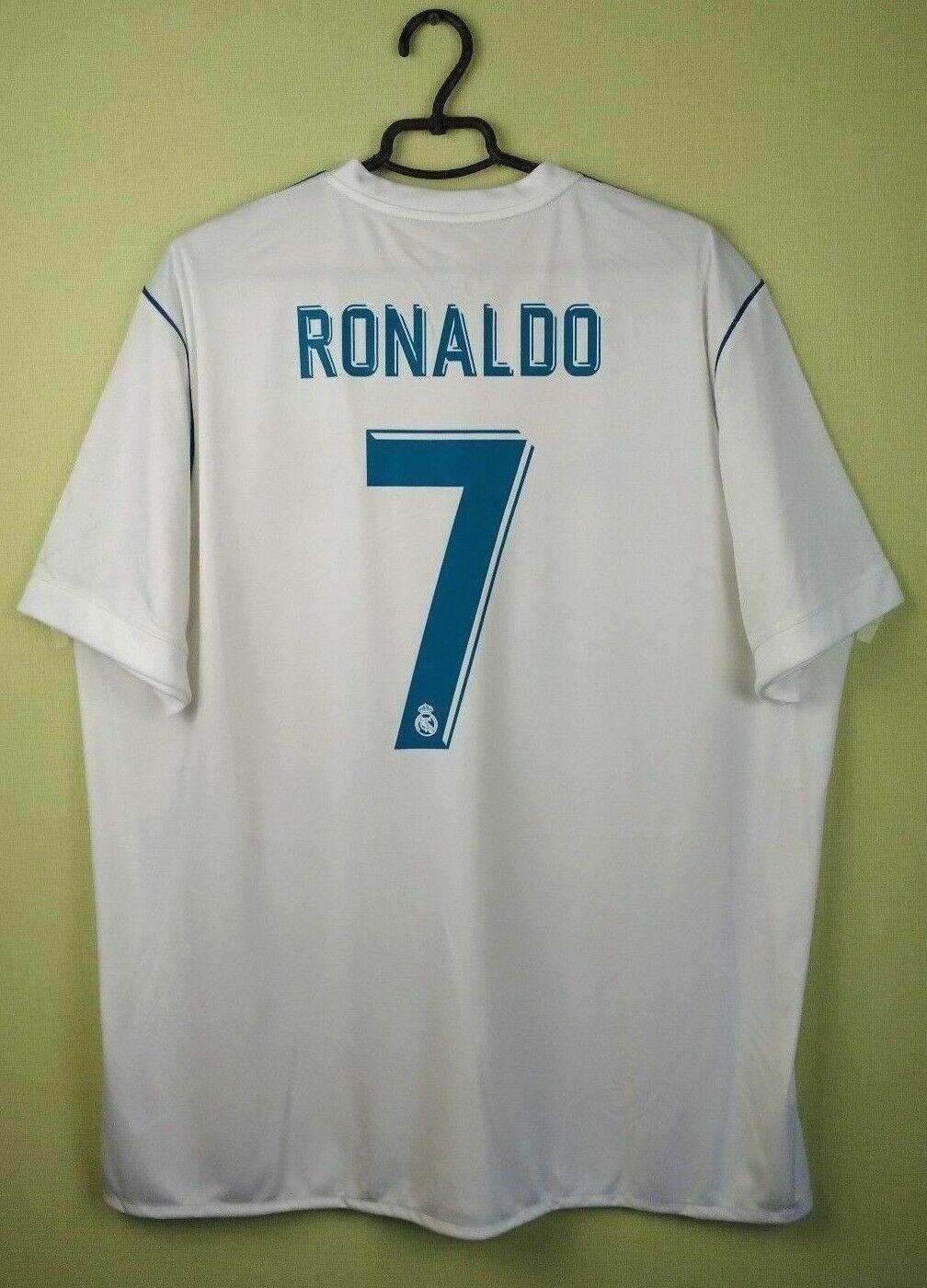 Ronaldo Real Madrid jersey 2XL 201718 Home adidas uomo shirt soccer AZ8059 55