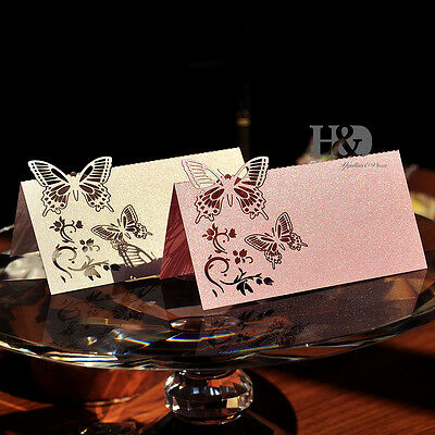 Large Butterfly Laser Cut Wedding Party Table Name Place Cards Favor Decoration