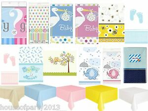 Baby-Shower-Nappe-Couverts-De-Table-Fete-Soiree-Plastique-garcon-fille-unisexe