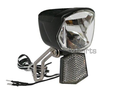 Fahrrad Scheinwerfer LED für Nabendynamo Secu Forte 70 Lux Lampe Frontlampe