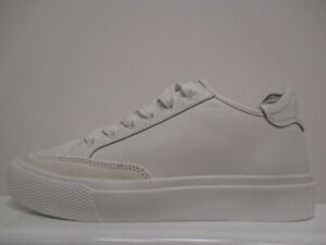 DKNY Reese Leather Trainers Ladies UK 4