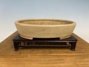Cream-Glazed-Shohin-Size-Tokoname-Bonsai-Tree-Pot-By-Bigei-6-3-8