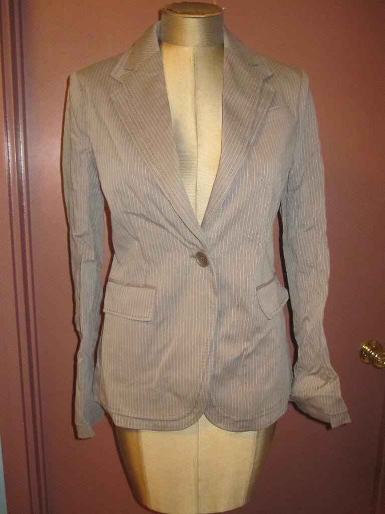 New NWT BCBG grey pin stripe fitted blazer sz sz sz S classic workwear 99818c