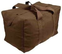 Earth Brown Heavy Duty Cotton Canvas Parachute Cargo Tote Travel Bag 3523 2