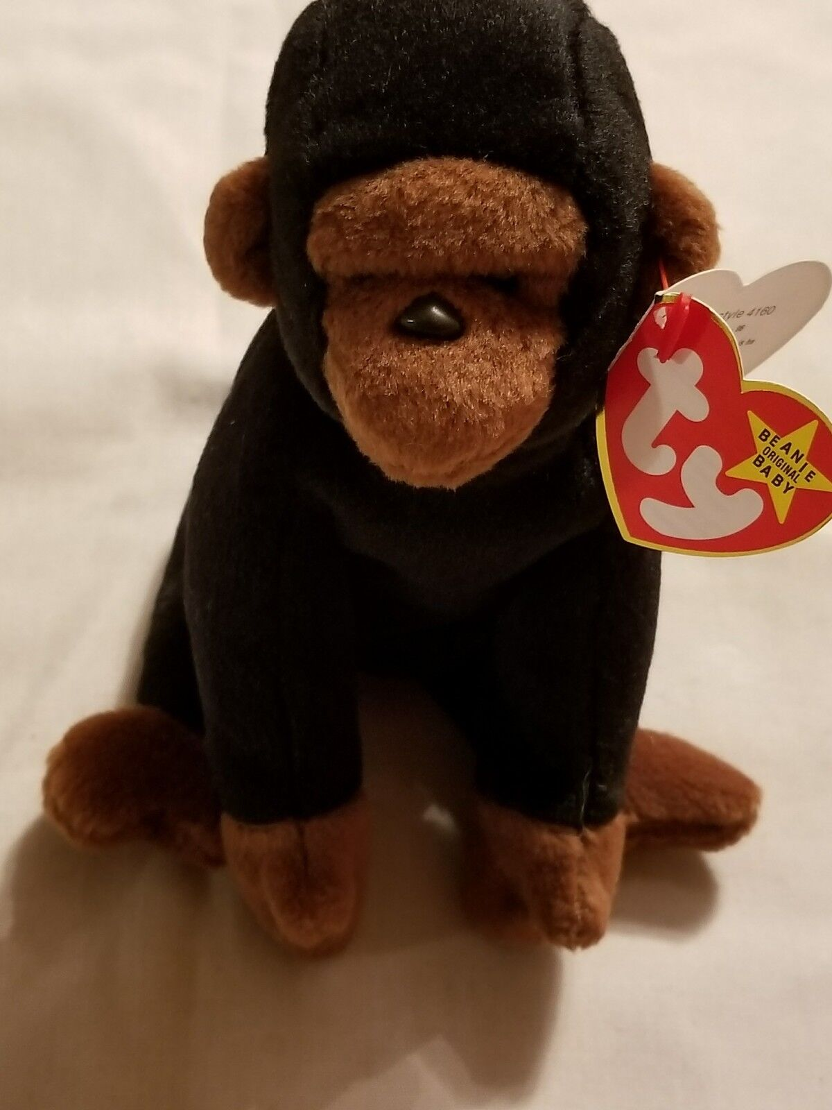 Ty Beanie Baby Congo Gorilla RARE, RETIRED 1996 PVC Pellets TAG ERRORS MINT